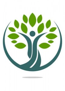 Logo natural tree health human