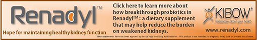 Kidney frienldy supplements from Renadyl Probiotics